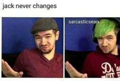 The only thing that's changed is how big his smile is! And his floffy hair. His hair has changed for the floofs sake Pewdiepie, Jacksepticeye Memes, Markiplier Hair, Youtube Gamer, To Youtube, Sweet Youtube, Youtube Stars, Yandere, Sean William Mcloughlin