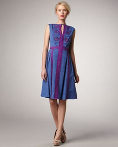 Jump Rope Embroidered Dress by Nanette Lepore at Bergdorf Goodman.