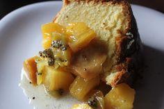 Lemon Butter Pound Cake w/ Tropical Fruit Compote - Brown Sugar