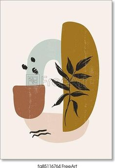 Botanical leaves print boho minimalist wall art - Artwork - Art Print from FreeArt.com Minimal Wall Art, Leaf Art, Canvas Prints, Hipster Art Prints, Silhouette Art, Small Art Prints, Botanical Collage, Art, Retro Background