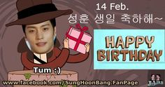 [ 6 Birthday POSTERS ] For #SungHoon @bbangsh83 #성훈 14 Feb. will be Sung Hoon Birthday Cheer MORE Birthday POSTERS & message to Sung Hoon. Credit : Thank you poster owner name as tagged. FACEBOOK :...
