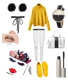 """""""Sans titre #38"""" by ness-11 ❤ liked on Polyvore featuring adidas Originals, River Island, Gucci, MICHAEL Michael Kors, Joomi Lim and Ilia"""