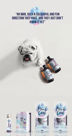 This product is aimed to the brave dog inside of you, to the feisty cat you always wanted to be when you grew up, that's why is what we wanted to aim for. Fun, colorful and hip, always down for a >> Logo Branding, Logos, Dog Care, Brave, Shampoo, Conditioner, Label, Packaging, Organic
