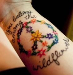 Tatuagens no estilo Hippie Chic