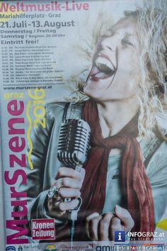Bilder von der Eröffnung der Murszene Graz 2016 mit The Koby Israelite Band feat. Annique  Die #Murszene #Graz ist schon ein fixer Bestandteil des Sommers. Die Eröffnung am 21. Juli 2016 – an einem wunderbaren Sommerabend – war ein voller Erfolg. #Weltmusik am #Mariahilferplatz.    #Eröffnung #MurszeneGraz2016 #TheKobyIsraeliteBandfeatAnnique