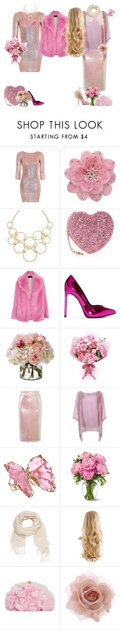 """pink style for party"" by svetlozeme ❤ liked on Polyvore featuring Topshop, Tarina Tarantino, Vera Bradley, Furla, J.Crew, Yves Saint Laurent, Diane James, Essentiel, Lucifer Vir Honestus and maurices"