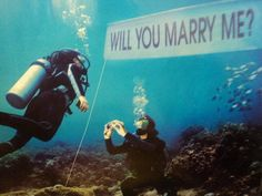 Underwater proposal! Best reason ever to take up scuba!  :)