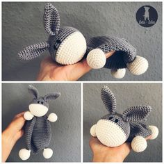 Crochet pattern Schnuffeltuch, With these instructions you can crochet your own donkey comforter. The instructions for the Schnuffeltuch contains a detailed description with photos. Easy Knitting Projects, Knitting For Beginners, Crochet Projects, Crochet Hooks, Crochet Baby, Free Crochet, Cat Crochet, Blanket Crochet, Baby Patterns
