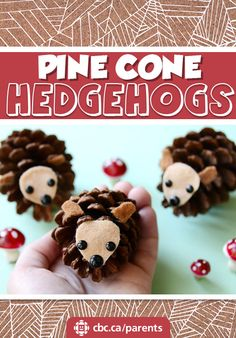 Find pine cones on a nature walk and transform them into adorable little hedgehogs. Crafts Fir Kids, Pinecone Crafts Kids, Pinecone Ornaments, Autumn Crafts, Nature Crafts, Toddler Crafts, Preschool Crafts, Holiday Crafts, Kids Diy