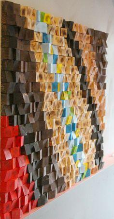 Wood Art Wall rustic reclaimed wood wall art, wood wall sculpture, abstract wood