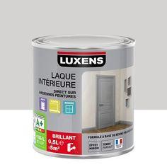 Peinture gris zingué 4 LUXENS Couleurs intérieures satin 0.5 l ...