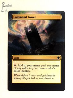 Command Tower - Extended - MTG Alter - Revelen's Light Altered Art Magic Card #WizardsoftheCoast