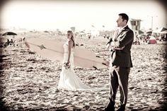 Quick surf trip before this San Diego beach wedding. Now that's true love!