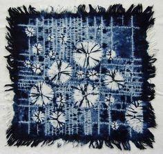 shibori-beautiful-indigo - I So LOVE indigo! Textile Dyeing, Textile Fiber Art, Dyeing Fabric, Textiles Techniques, Shibori Techniques, Natural Dye Fabric, Shibori Tie Dye, Japanese Textiles, Tejidos