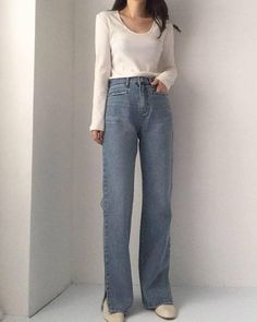 Cute Casual Outfits, Fall Outfits, Fashion Outfits, Fashion Pants, Korean Fashion Trends, Korean Street Fashion, Love Fashion, Womens Fashion, Blair Waldorf