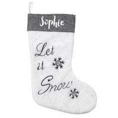 Personalised Christmas Stocking - Let It Snow Personalized Stockings, Personalized Items, Let It Snow, Let It Be, All Block, Special Symbols, Small Gifts, Christmas Stockings, Plush