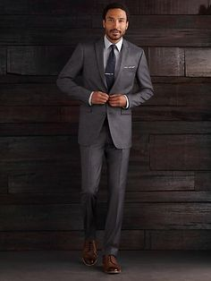 Egara Black and White Sharkskin Slim Fit Tailored Suit Separates ...