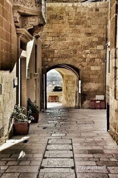 Side entrance to the Cittadella Gozo. The fortified Capital City of Gozo, the second biggest island of Malta's archipelago.   Photo taken by Raymond Anastasi