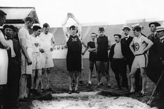 Martin Sheridan warming up for the Standing Long Jump - not a pic I've seen before.  Thanks to Vintage London Olympics Photos From 1908/Daily Beast