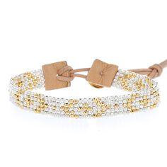 Gold Mix Beaded Single Wrap Bracelet - Chan Luu