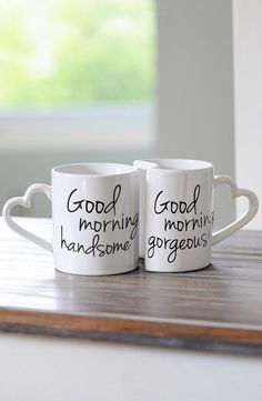 Start off every morning in the best way possible with a cup of joe in these adorable coffee mugs. || Rita and Phill specializes in custom skirts. Follow Rita and Phill for more rest time images.  https://www.pinterest.com/ritaandphill/rest-time/