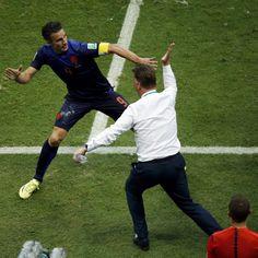 WK voetbal: Oranje zet Spanje volledig voor schut; 5-1.