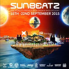 Sunbeatz Ibiza at Islas Baleares, Ibiza, Spain on Sep 15, 2015 to Sep 22, 2015 at 2:00pm to 12:00am. Sunbeatz Ibiza, the only Drum & Bass Festival on the number one clubbing island is back on 15th - 22nd September with it's hardest hitting line-up yet. URL: Tickets: http://atnd.it/29893-1 Category: Nightlife Prices: Full Week Club Pass £159, Weekend Club Pass £99 Artists: Hazard, Hype, Micky Finn, Randall, Brockie, Inter, Gq, Ic3, Evil B, 2shy