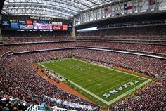 NRG Stadium - Opening in 2002, the Houston Texans stadium became the first retractable roof facility in the NFL. - See more at: http://www.stadiumsofprofootball.com/afc/ReliantStadium.htm#sthash.Q3HJp6bV.dpuf