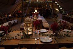 Tipi Christmas Parties - Banquet