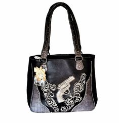 Montana West Dual Sided Concealed Carry Purse American Bling Western Handbag for sale online Aztec Purses, Concealed Carry Handbags, Long Wallet, Leather Men, Bling, Shoulder Bag, Montana, Western Style, Clearance Sale