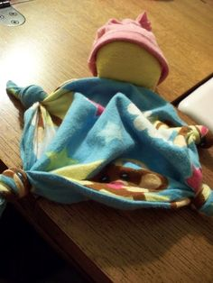 DIY  Recycled Waldorf Inspired Rag Doll - Perhaps have 4th-5th graders make a bunch of these to donate to a Maternity Ward, Children's Hospital or LACASA.