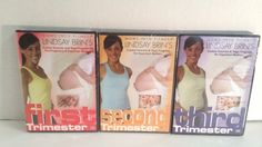 Lindsay Brin's Pregnancy 3-DVD Workout Set: Cardio, Toning PLUS Yoga FREE SHIP
