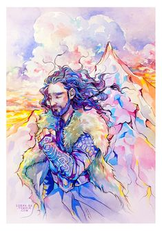 """lorna-ka: """"Trying to draw smiling peaceful Thorin was a strange experience for me."""""""