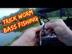 Zoom Trick Worm Pond Bass Fishing - YouTube