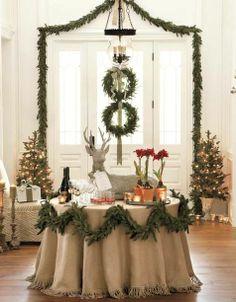 REVEL: Simple Christmas Decor Graduating size wreaths on door