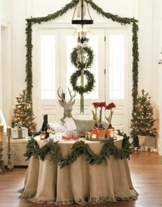 REVEL: Simple Christmas Decor Graduating size wreaths on door
