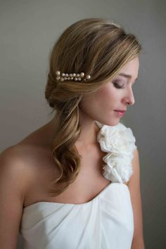 Pearl Greta Bridal Comb by MyOliviaNelson on Etsy