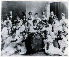 The Ladies Mountain Echo Brass Band, Ephraim, Utah, 1915.