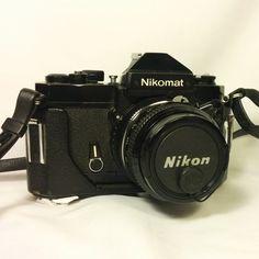 Vintage Nikon Nikomat FT2 35mm Film SLR Camera w/ Nikkor 50mm 1:2 Lens And Case 1975 - $124.99
