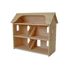 Handcrafted Natural Wooden Toy Dollhouse-Waldorf Dollhouse-Wooden Doll House- Montessori- Wooden Toys- Toy Dollhouse- Pretend Play Dollhouse door AToymakersDaughter op Etsy https://www.etsy.com/nl/listing/125056467/handcrafted-natural-wooden-toy-dollhouse
