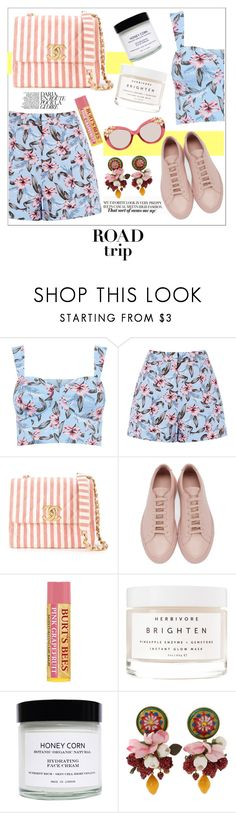 """Summer roadtrip"" by handlewithlove ❤ liked on Polyvore featuring Chanel, Common Projects, Honey Corn, Dolce&Gabbana and Jimmy Choo"