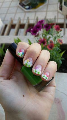 Nail polish 🌷💅 #SisterArt #Revayawork #Awesome #Nailpolishart  #Flowersformissharis