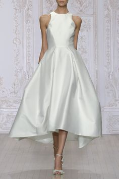 Trendy wedding dresses vintage a line tea length fall 2015 Wedding Dresses Photos, Wedding Dress Trends, White Wedding Dresses, Bridesmaid Dresses, Tea Length Wedding Dress, Tea Length Dresses, Monique Lhuillier, Bridal Gowns, Wedding Gowns