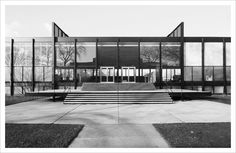 Mies van der Rohe; Crown Hall, Illinois Institute of Technology, Chicago, 1950-56