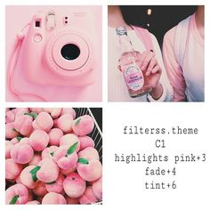 pink feminine filter #freefilter Use on already pink photos for best results.