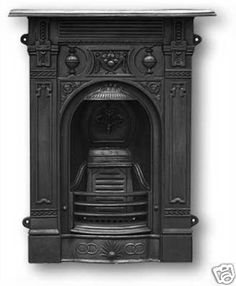 Victorian cast iron fireplace via ebay