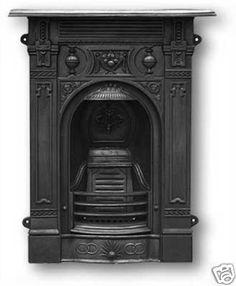 Victorian cast iron fireplace via ebay