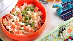 Macarrão com frango e legumes ao molho branco - HOJE TEM FRANGO   Seara