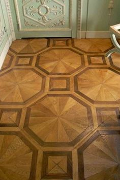 Parquet floors, wood paneling Paris France
