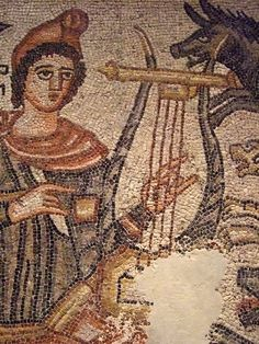 Ancient Roman mosaic Orpheus Taming the Animals 204 CE. Courtesy & currently located at the Dallas Museum of Art, Texas. Photo taken by mharrsch. Ancient Rome, Ancient Art, Ancient History, Roman History, Art History, Ancient Music, Roman Artifacts, Byzantine Art, Byzantine Mosaics
